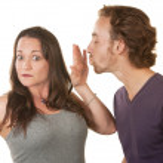 Lady Blocking a Man's Kiss — Stock Photo #14935145