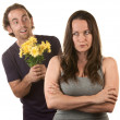 Stock Photo: Skeptical Lady with Smiling Man