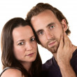 Stock Photo: Serious Couple Close Up
