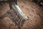Steel Pipe Explosive Device — Stock Photo