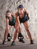 严重的新兵训练营的样式锻炼 — 图库照片