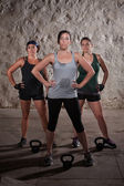 Ladies Finishing Boot Camp Workout — Stock Photo