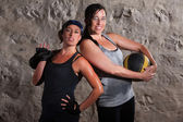 Confident Boot Camp Training Women — Stock Photo
