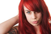 Woman with Red Hair and Tattoo — Stock Photo