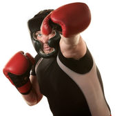 Fighers Throws a Punch — Stock Photo