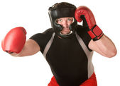 Boxer with Right Hook — Stock Photo