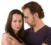 Sad Couple Embracing — Stock Photo