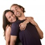 Cute Couple Hugging — Stock Photo