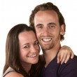 Smiling Woman and Man Close Up — Stock Photo