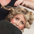 Royalty-Free Stock Photo: Frightened in Hair Salon
