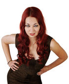Pretty Lady with Hands on Hips — Stock Photo
