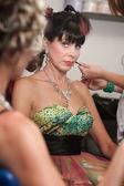 žárlivá žena v kadeřnictví — Stock fotografie
