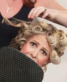 Strach v kadeřnictví — Stock fotografie