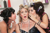 Ladies Whispering in the Hair Salon — Stock Photo