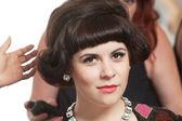 发型师的女人 — 图库照片