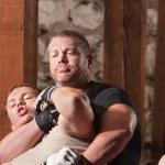 Fighter Struggling in Choke Hold — Stock Photo