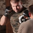 Mixed Martial Artist Throws Jab — Stockfoto #16352821