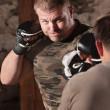 Mixed Martial Artist Throws Jab — Stock Photo