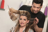 髪の問題を持つ女性 — ストック写真