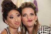 Ladies Making Faces — Stock Photo