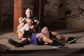 Fighter In Choke Hold — Stockfoto