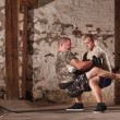 Stock Photo: Fighters Doing Guard Situps