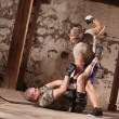 Stock Photo: MMFighter Beating Opponent
