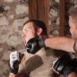 Stock Photo: Two Mixed Martial Artists Sparring