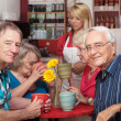 Mature Cafe Patrons — Stock Photo