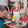 Waitress With Slow Customers - Stock Photo