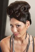 Woman in Retro Hairdo — Stock Photo