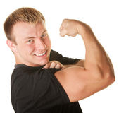 Man Flexing Biceps — Photo