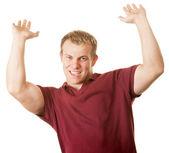 Uomo con le braccia fino — Foto Stock