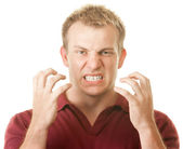 Angry Man Clenching Teeth — Stock Photo