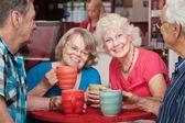 年配の婦人たち笑みを浮かべて — ストック写真
