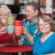 Stock Photo: Senior Group Toasting Drinks