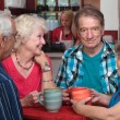 Stockfoto: Older Adults in Conversation