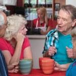 Seniors in Conversation — Stock Photo
