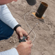 Stock Photo: Pyrotechnic Expert Wiring Remote Control