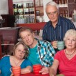 Sad Group of Senior Friends — Stock Photo