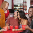 Smiling Man with Group of Friends — Stock Photo