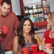 Stock Photo: Native Woman with Friends in Cafe