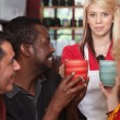 Hostess Bringing Drinks — Stock Photo