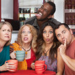 Group Making Funny Faces — Stockfoto