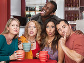 Group Making Funny Faces — Stock Photo