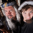 Father and Son Wizard — Foto de Stock