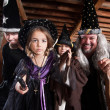 Spell Casting Family - Stock Photo