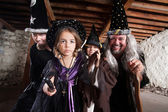 Spell Casting Family — Stock Photo