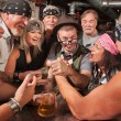 Nerd Wins Arm Wrestling Match — Stock Photo #18635045