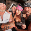 Four Tough Bikers in a Bar — Stock Photo #18635073